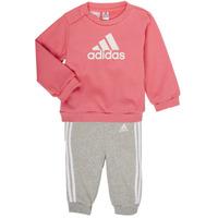 Oblečenie Dievčatá Komplety a súpravy adidas Performance BOS JOG FT Ružová