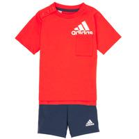 Oblečenie Chlapci Komplety a súpravy adidas Performance BOS SUM  SET Červená / Čierna
