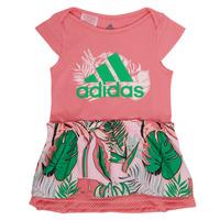 Oblečenie Dievčatá Krátke šaty adidas Performance FLOWER DRESS Ružová