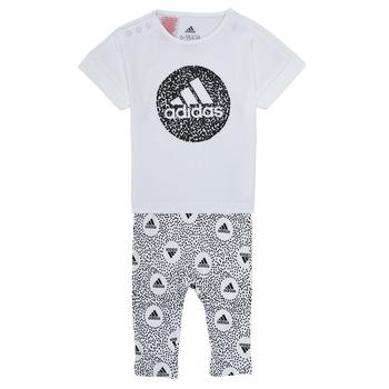 Oblečenie Dievčatá Komplety a súpravy adidas Performance TIGHT SET Biela