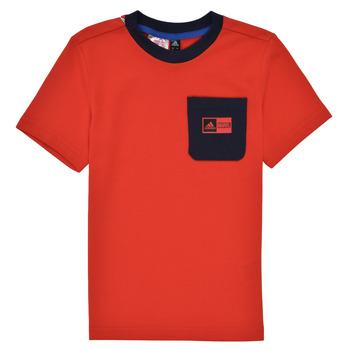 Oblečenie Chlapci Komplety a súpravy adidas Performance LB DY SHA SUM Červená / Námornícka modrá