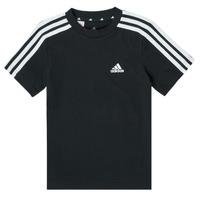 Oblečenie Chlapci Tričká s krátkym rukávom adidas Performance B 3S T Čierna