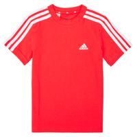 Oblečenie Chlapci Tričká s krátkym rukávom adidas Performance B 3S T Červená