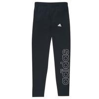 Oblečenie Dievčatá Legíny adidas Performance G LIN LEG Čierna