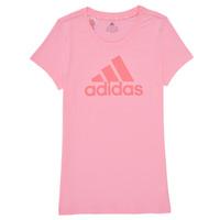 Oblečenie Dievčatá Tričká s krátkym rukávom adidas Performance G BL T Ružová