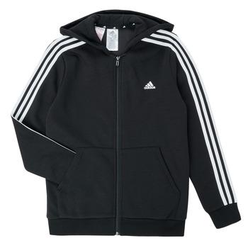 Oblečenie Chlapci Mikiny adidas Performance B 3S FZ HD Čierna