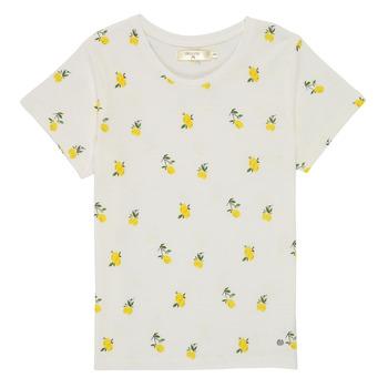Oblečenie Dievčatá Tričká s krátkym rukávom Deeluxe NADY Biela