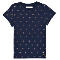 Oblečenie Dievčatá Tričká s krátkym rukávom Deeluxe MAYA Námornícka modrá