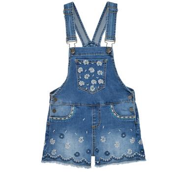 Oblečenie Dievčatá Módne overaly Desigual 21SGDD04-5053 Modrá