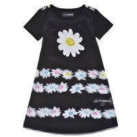 Oblečenie Dievčatá Krátke šaty Desigual 21SGVK28-2000 Čierna