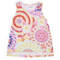 Oblečenie Dievčatá Tielka a tričká bez rukávov Desigual 21SGCW02-3146 Viacfarebná