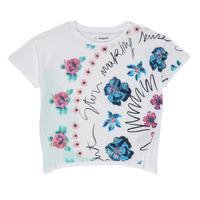 Oblečenie Dievčatá Tričká s krátkym rukávom Desigual 21SGTK02-1000 Biela