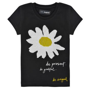 Oblečenie Dievčatá Tričká s krátkym rukávom Desigual 21SGTK28-2000 Čierna