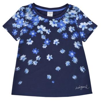 Oblečenie Dievčatá Tričká s krátkym rukávom Desigual 21SGTK37-5000 Námornícka modrá