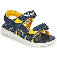 Topánky Deti Sandále Timberland PERKINS ROW 2-STRAP Modrá / Žltá
