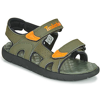 Topánky Deti Sandále Timberland PERKINS ROW 2-STRAP Zelená / Oranžová