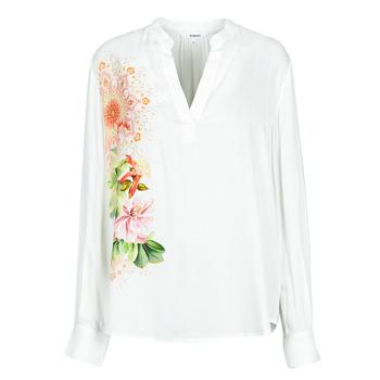 Oblečenie Ženy Košele a blúzky Desigual TIGRIS Biela