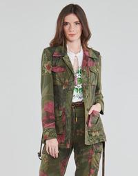 Oblečenie Ženy Saká a blejzre Desigual CAMOASIS Kaki