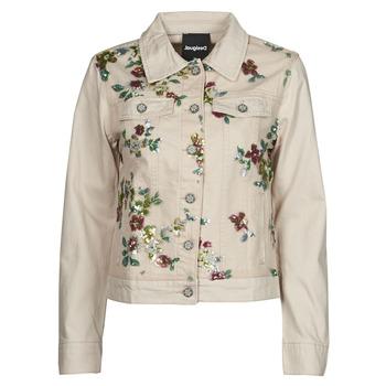 Oblečenie Ženy Džínsové bundy Desigual BRILLIGRIN Ružová