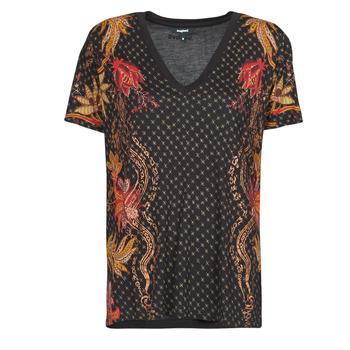 Oblečenie Ženy Tričká s krátkym rukávom Desigual PRAGA Čierna