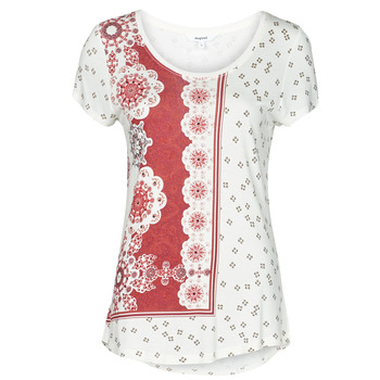 Oblečenie Ženy Tričká s krátkym rukávom Desigual ESTAMBUL Biela