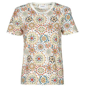 Oblečenie Ženy Tričká s krátkym rukávom Desigual LYON Biela