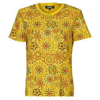 Oblečenie Ženy Tričká s krátkym rukávom Desigual LYON Žltá