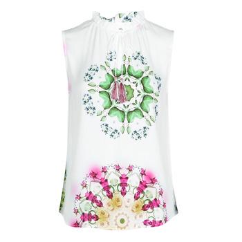 Oblečenie Ženy Tielka a tričká bez rukávov Desigual ROSEN Biela
