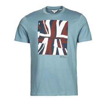 Oblečenie Muži Tričká s krátkym rukávom Ben Sherman HALF TONE FLEG TEE Modrá