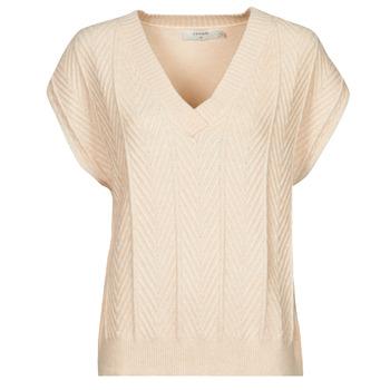 Oblečenie Ženy Blúzky Cream MAHIMA SLEEVELESS Béžová