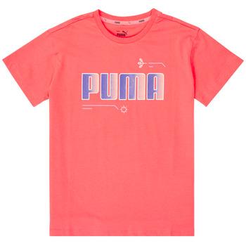 Oblečenie Dievčatá Tričká s krátkym rukávom Puma ALPHA TEE Ružová
