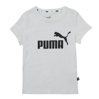 Oblečenie Dievčatá Tričká s krátkym rukávom Puma ESS TEE Biela