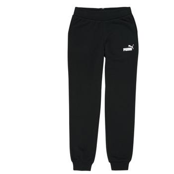 Oblečenie Dievčatá Tepláky a vrchné oblečenie Puma ESS SWEATPANT Čierna