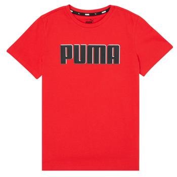 Oblečenie Chlapci Tričká s krátkym rukávom Puma ALPHA GRAF TEE Červená