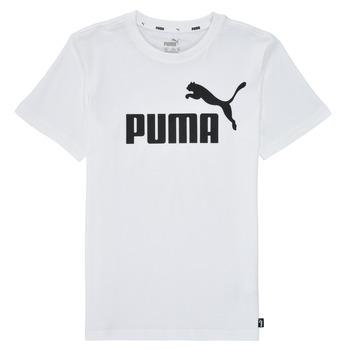Oblečenie Chlapci Tričká s krátkym rukávom Puma ESSENTIAL LOGO TEE Biela
