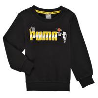 Oblečenie Chlapci Mikiny Puma SNOOPY PEANUTS CREW Čierna