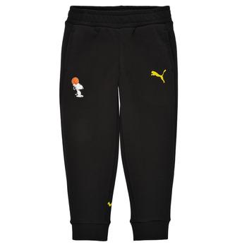 Oblečenie Chlapci Tepláky a vrchné oblečenie Puma SNOOPY PEANUTS SWEAT PANT Čierna