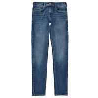 Oblečenie Chlapci Rifle Skinny  Pepe jeans FINLY Modrá