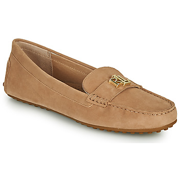 Topánky Ženy Mokasíny Lauren Ralph Lauren BARNSBURY FLATS CASUAL Béžová