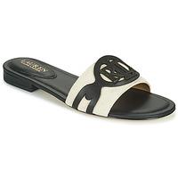 Topánky Ženy Šľapky Lauren Ralph Lauren ALEGRA Čierna / Béžová