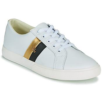 Topánky Ženy Nízke tenisky Lauren Ralph Lauren JANSON II Biela / Zlatá