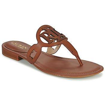 Topánky Ženy Sandále Lauren Ralph Lauren AUDRIE Koňaková