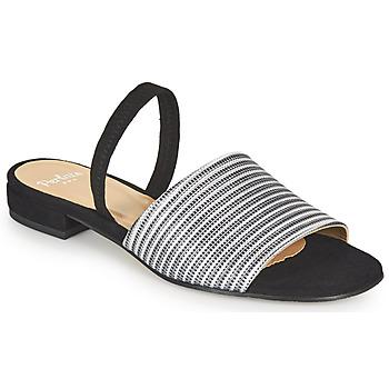 Topánky Ženy Sandále Perlato 11117-YORK-ARGENT-CAM-NOIR Čierna / Strieborná