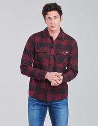 Oblečenie Muži Košele s dlhým rukávom Dickies NEW SACRAMENTO SHIRT MAROON Bordová / Čierna