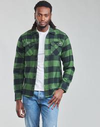 Oblečenie Muži Košele s dlhým rukávom Dickies NEW SACRAMENTO SHIRT PINE GREEN Kaki / Čierna