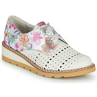 Topánky Ženy Derbie Dorking TETRIS Biela / Viacfarebná