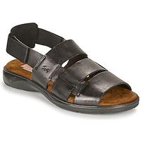 Topánky Muži Sandále Fluchos 1200-SURF-NEGRO Čierna