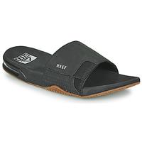 Topánky Muži športové šľapky Reef FANNING SLIDE Čierna