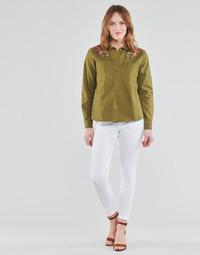 Oblečenie Ženy Nohavice päťvreckové Freeman T.Porter ALEXA CROPPED S-SDM Biela
