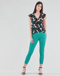 Oblečenie Ženy Nohavice päťvreckové Freeman T.Porter ALEXA CROPPED NEW MAGIC COLOR Zelená